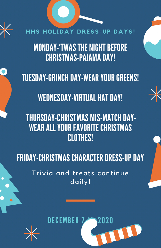 HHS Christmas Spirit Days!!