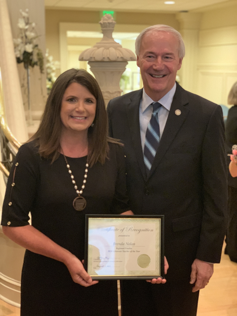 Brenda Nolan and Governor Hutchinson