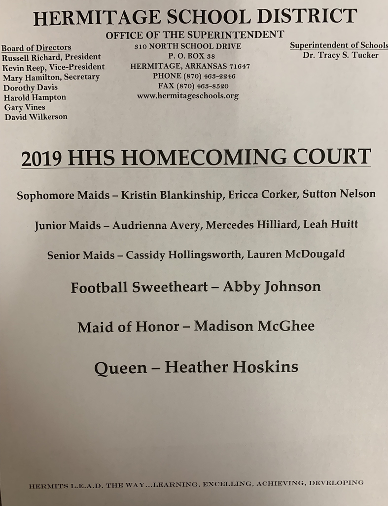 Names of homecoming court royalty