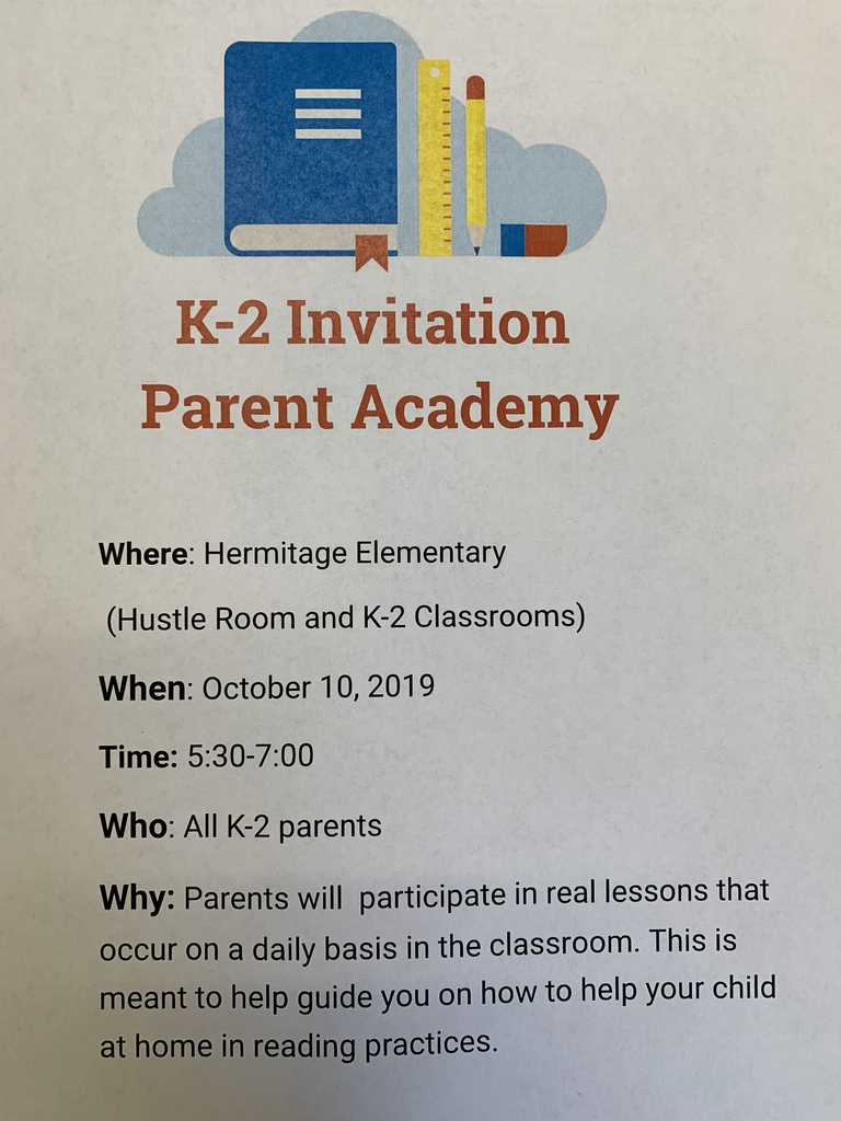Invite to K-2 Parent Academy
