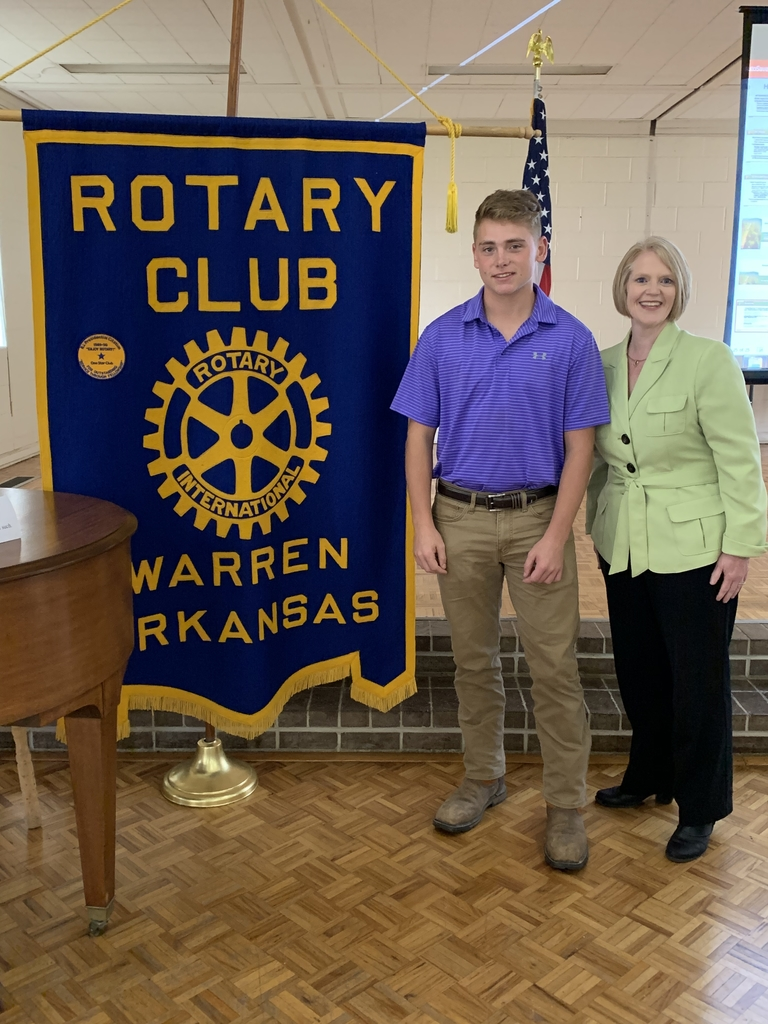Cole and Dr. Tucker at Rotary.
