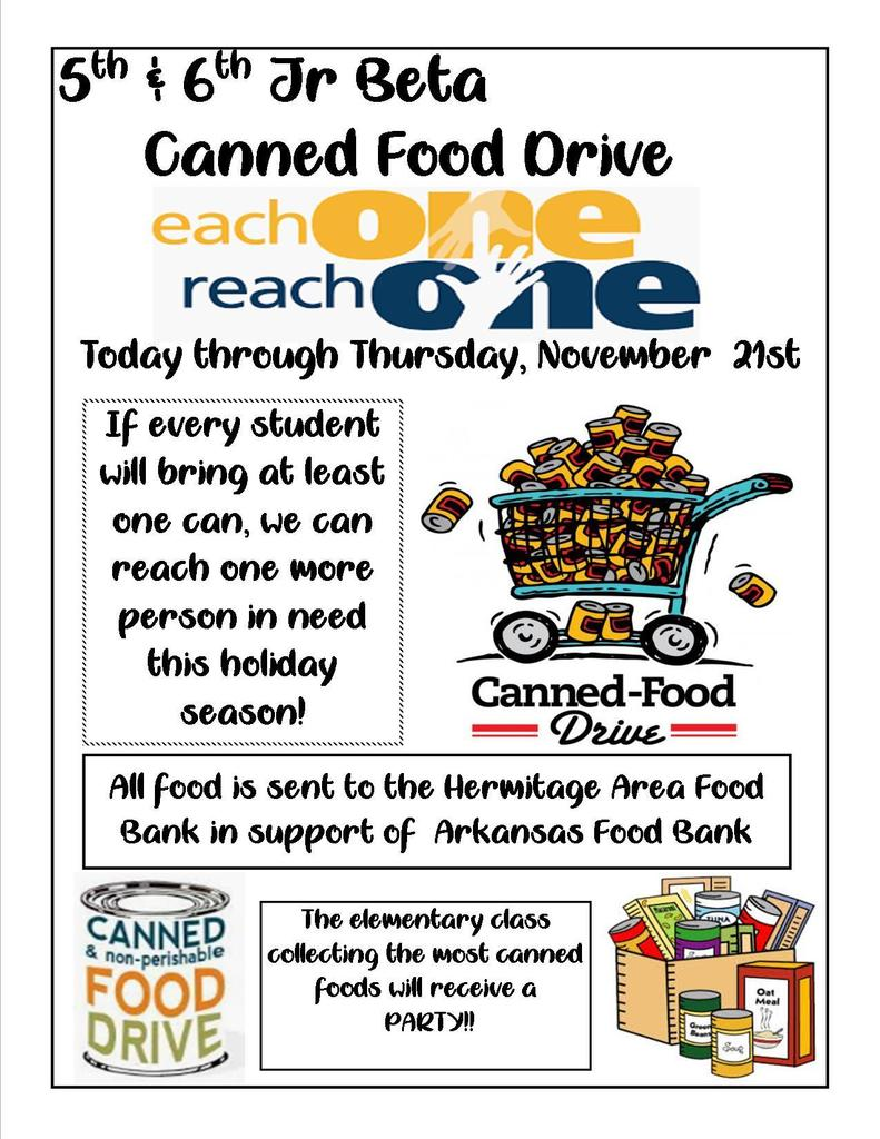5th & 6th Jr Beta Food Drive